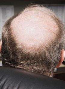 Mature businessman with bald head