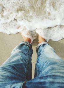 feet ocean