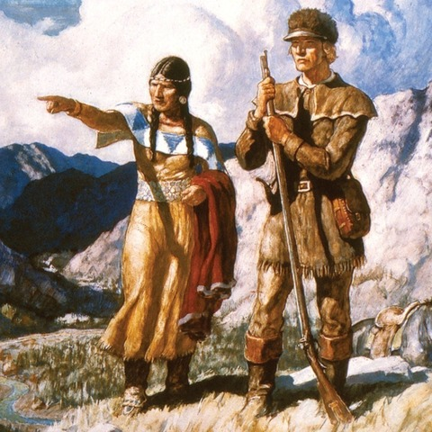 sacagawea pointing
